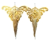 WESTRAY GOLD BUTTERFLY KNIFE FRINGE EARRINGS