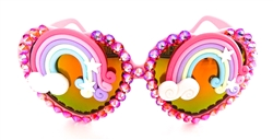 XANADU RAINBOW ACID LOLITA HEART GLASSES
