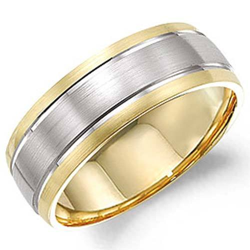 14K White   Yellow Gold Wedding Ring 1ad52eef23