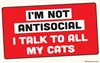 I'm not antisocial. I talk to all my cats