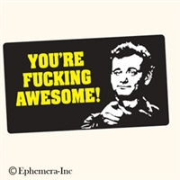 You're fucking awesome!