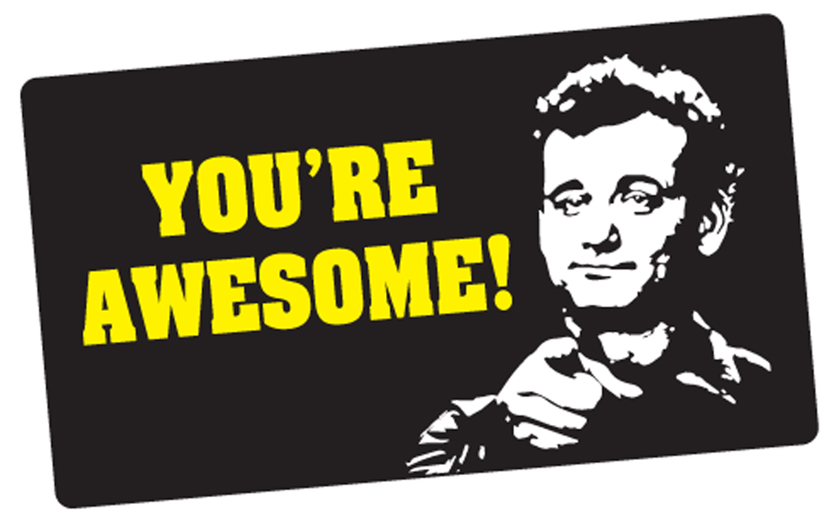 buy this you re awesome bill murray sticker