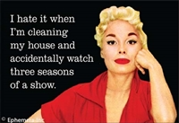 I hate it when I'm cleaning my house and accidently watch three seasons of a show.