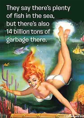They say there's plenty of fish in the sea, but there's also 14 billion tons of garbage there.