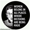 WOMEN BELONG IN ALL PLACES WHERE DECISIONS ARE BEING MADE