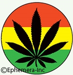 Rasta Flag Pot Leaf