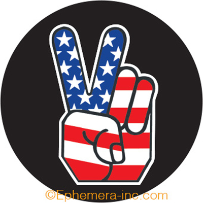 American Flag Peace Fingers