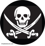 (Skull and crossed swords) pirate