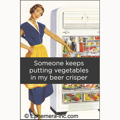 Someone keeps putting vegetables in my beer crisper