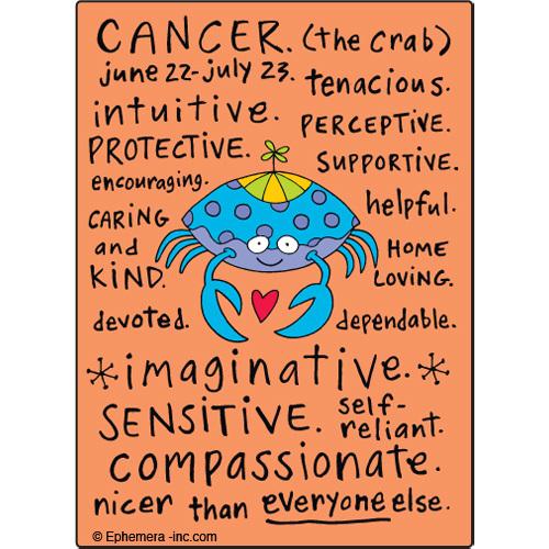 Cancer Fridge Magnet