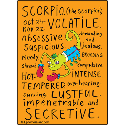 Scorpio   naughty  Clayboys zodiac