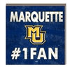 Marquette #1 Fan Hang/Stand Plaque