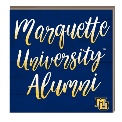 Marquette Alumni Hang/Stand Plaque