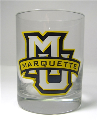 Marquette Golden Eagles MU Rocks Glass