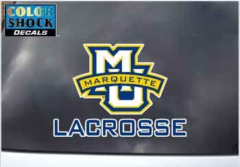 Marquette Golden Eagles MU/LAX Color Shock Decal