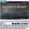 Marquette University MU Color Shock Decal Strip