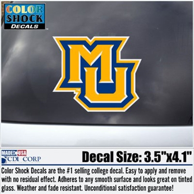 Marquette Golden Eagles MU Color Shock Decal