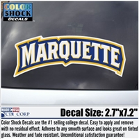 Marquette University MARQUETTE Wordmark Color Shock Decal