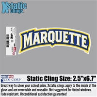 Marquette University Wordmark Xstatic Window Cling