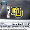 Marquette Golden Eagles MU Xstatic Window Cling