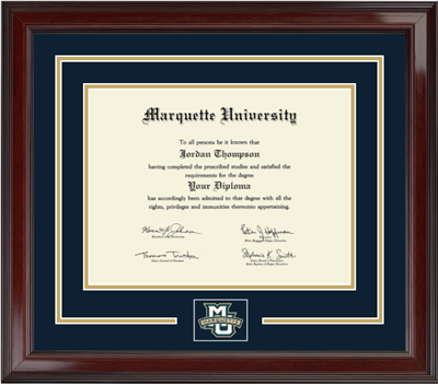 Marquette Golden Eagles Spirit Encore Diploma Frame