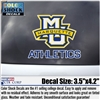 Marquette Golden Eagles MU ATHLETICS Color Shock Decal