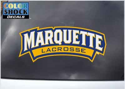 Marquette Golden Eagles LAX  Wordmark Color Shock Decal
