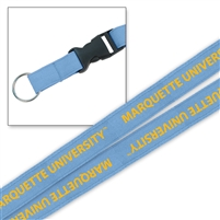 Marquette University Platinum Woven Lanyard Sky