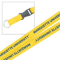 Marquette Golden Eagles Woven Lanyard Gold