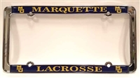 Marquette Lacrosse License Plate Frame