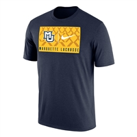 Marquette University LAX Dri-Fit Tee Navy