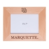 Marquette University Engraved Wood 5x7 Frame - Horizontal