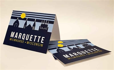 Marquette Golden Eagles Retro Skyline Notecards