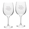 Marquette University Etched Wine Glasses Set of 2