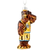 Marquette Golden Eagles Blown Glass Mascot Ornament