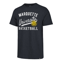 Marquette Basketball Tri-Blend Tee Navy