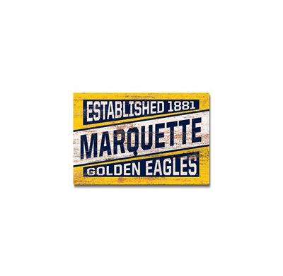 Marquette Golden Eagles Small Block Gold