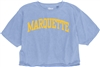 Marquette Blue Cropped Tee