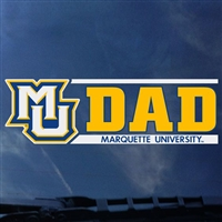Marquette Golden Eagles Marquette Dad Decal