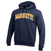 Navy Arch Sewn Letters Hood