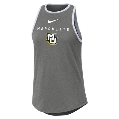 Marquette Women's High Neck Grey Tank