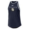 Marquette Women's High Neck Navy Tank