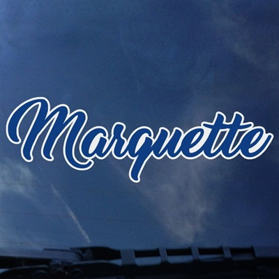 Marquette Golden Eagles Script Decal