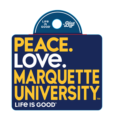 Life is Good Peace Love Sticker