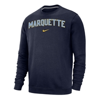 Marquette Golden Eagles Nike Arch & Swoosh Crew Navy
