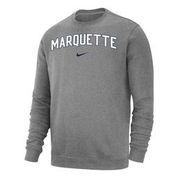 Marquette Golden Eagles Nike Arch & Swoosh Crew Grey