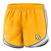 Marquette Golden Eagles Women's Nike Tempo Short Gold