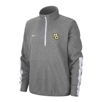 Women's Nike Microfleece Half Zip Grey