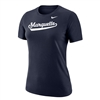 Women's Dri-fit Cotton Script Tee Navy
