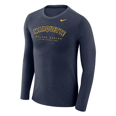 Marquette Golden Eagles Nike Marled Long Sleeved Tee